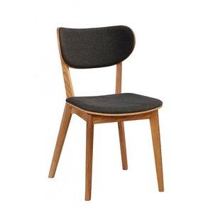 Camila stol - Ek/mörkgrå