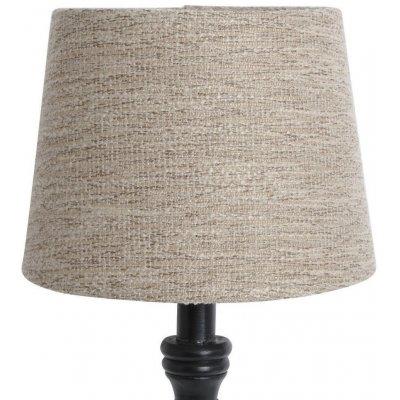 Rund lampskärm 16x20x15 cm - Natur (grovt linne)