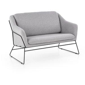 Regina XL soffa - Ljus grå/svart