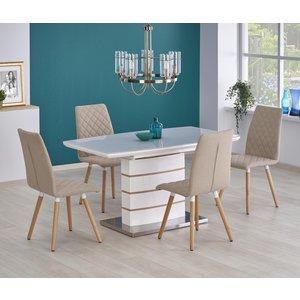 Mervin utdragbart matbord 140-180 cm - EK / Vit högblank