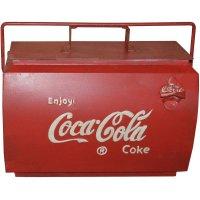 Coca Cola vintage kylbox med handtag - röd
