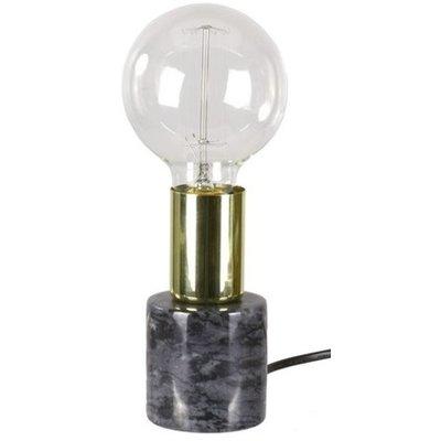 Bordslampa Stensjö - Svart marmor / Mässing