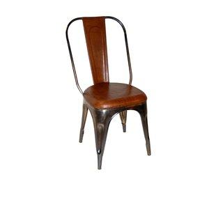 Stol Toxil - Vintage metall/läder