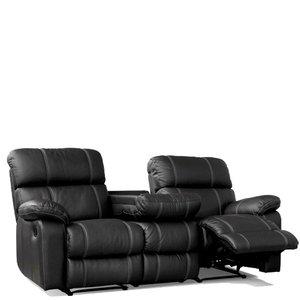 Leo 3-sits soffa - svart