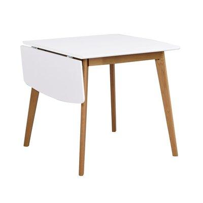 Orson klaffbord 80x80 cm + 30 cm - Vit/ek