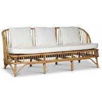 Baboo 3-sits soffa i rotting med dynor - Natur