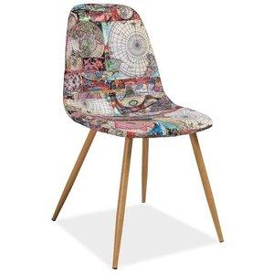 Hemingway stol - Metall/kartmönster