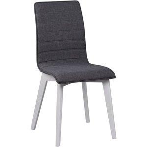 Aniyah stol - Mörkgrå/vitlack