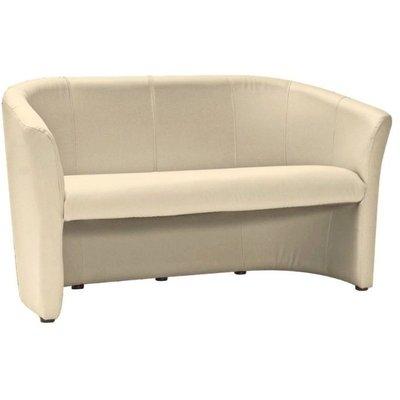 Charity 3-sits soffa - Krämvit (PU)