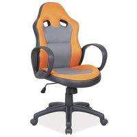 Lesly kontorsstol - Svart/orange