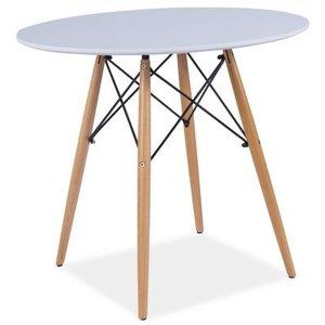 Cafébord Angela - Vit/bok
