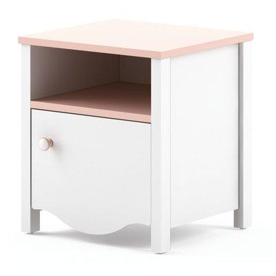 Letitia sängbord - Vit/rosa