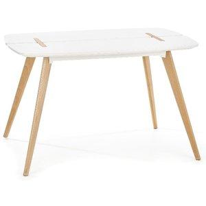 Issy matbord - Vit / Trä
