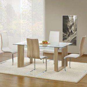 Karly matbord 160 cm - Ek/glas
