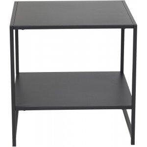 Träne sidobord med hylla - Svart