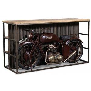 Gullier barbord motorcykel vintage - Metall/mango