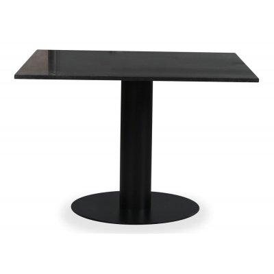 Empire matbord - Granit 90x90 cm / Svart metallfot