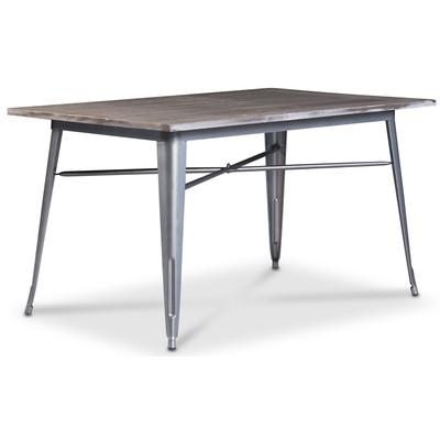 Industry matbord - Borstad metall / Trä