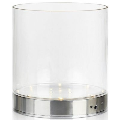 Bouquet bordslampa 19 cm - Krom/klarglas