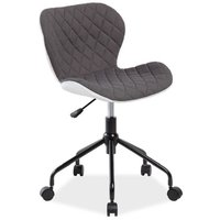 Krystal skrivbordsstol - Vit/grå
