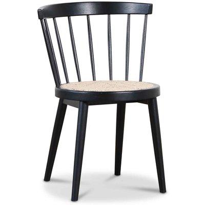 Orbit matstol med rotting sits - Svart