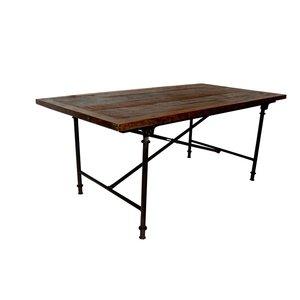 Åmål matbord 183 cm - Återvunnet trä/metall