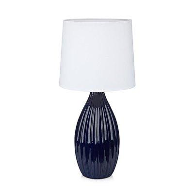 Stephanie Bordslampa - Blå/Vit