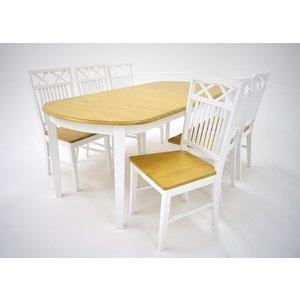Ramnäs matgrupp - Bord inklusive 6 st Ramnäs stolar - vit/ek