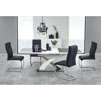 Bonita matbord 160-220 cm - Vit/svart