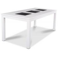 JASMINE matbord - Vitt / Svart granit