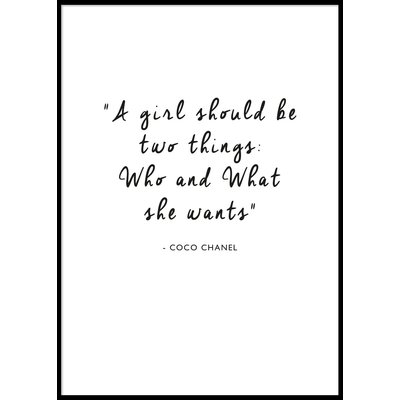 A GIRL SHOULD BE TWO THINGS.. - Poster 50x70 cm