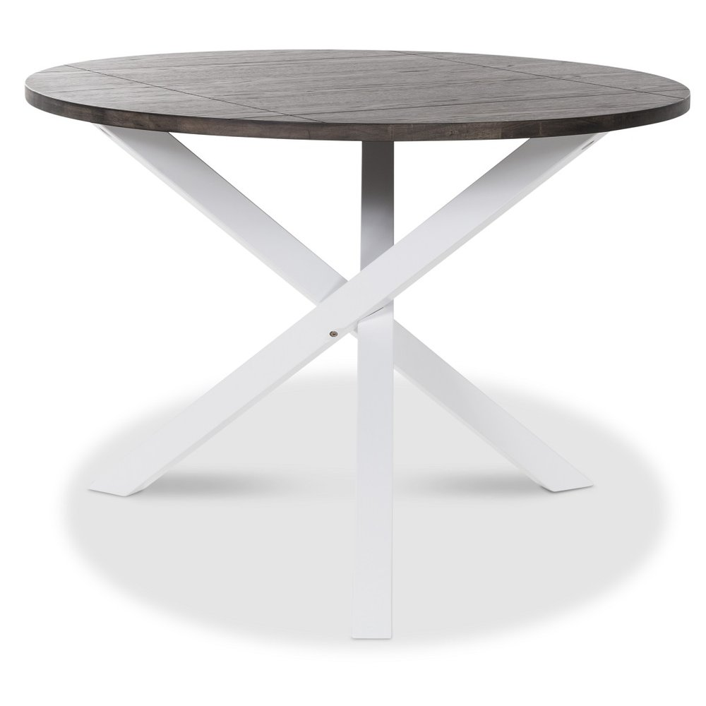 Prima Skagen runt matbord - Vit/brun - 3595 kr - Trendrum.se HB-95