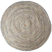 Handgjord Jutematta - Juni Denim150 cm diameter