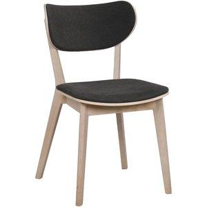 Camila stol - Whitewash ek/mörkgrå