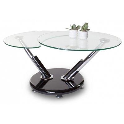 Sintra soffbord - Glas / Krom / Svart