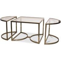 Prins deluxe soffbord 3-delar - Mässing/Glas
