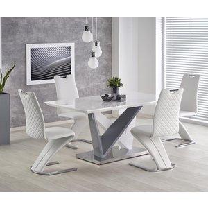 Merton matbord - Vit/grå
