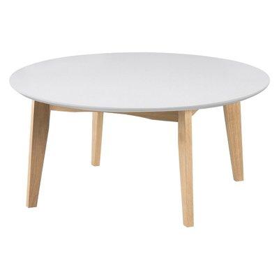 Antonio soffbord 90Ø - Vit/ek