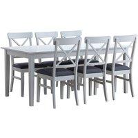 Crystal matgrupp - Bord inklusive 6 st Elisa stolar