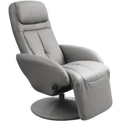 Berit reclinerfåtölj - Grå (PU)