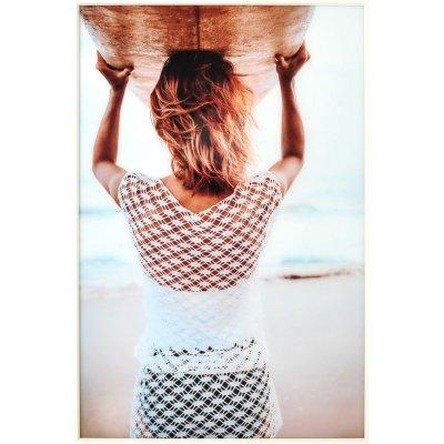 Glastavla Surf Blanco - Vit ram