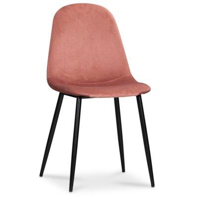 Carisma stol - Rosa sammet