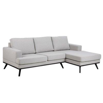 Ventura soffa - Ljusgrå/svart - Höger