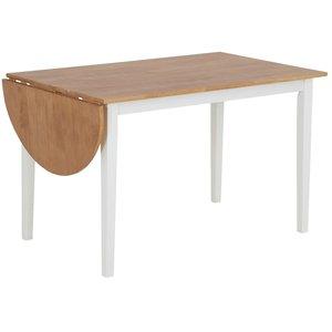 Merida klaffbord 120-156 cm - Vit / ek