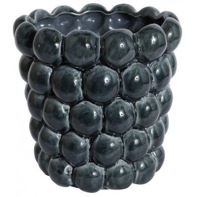 Vas Big Bouble H23 cm - Marinblå