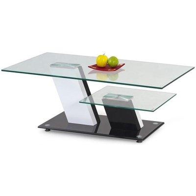 K2 soffbord - Vit/Svart/Glas