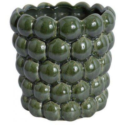 Kruka Big Bouble H18 cm - Grön (Glansig)