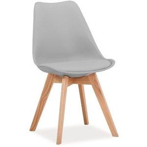 Jeremiah stol - Grå/ek