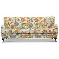 Savoy 3-sits soffa med blommigt tyg - Havanna Vit