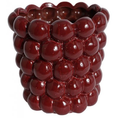 Vas Big Bouble H23 cm - Röd